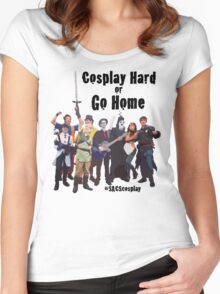 Cosplay Hard or Go Home Women's Fitted Scoop T-Shirt