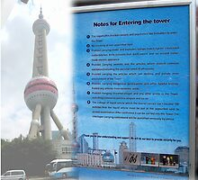 China Signs 06 Oriental Pearl Tower in Shanghai by Keith Richardson