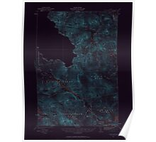 Maine USGS Historical Map Chain Lakes 306519 1932 62500 Inversion Poster