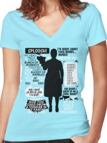 Archer - Pam Poovey Quotes Women's Fitted V-Neck T-Shirt