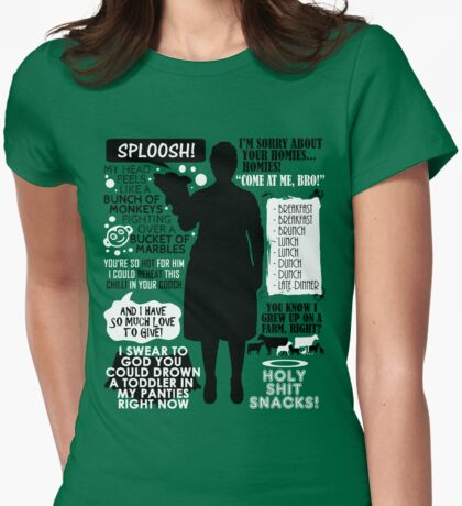 Archer - Pam Poovey Quotes Womens Fitted T-Shirt