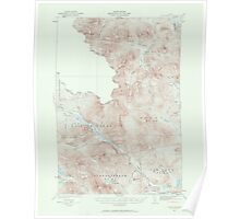 Maine USGS Historical Map Chain Lakes 306519 1932 62500 Poster