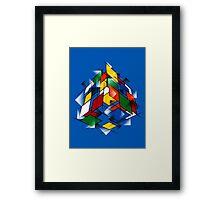 Rubik's Cubism Framed Print