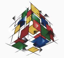 Rubik's Cubism Baby Tee