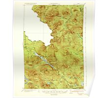 Maine USGS Historical Map Chain Lakes 460306 1935 62500 Poster