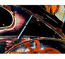 Beetle shedding its skin Photographic Print