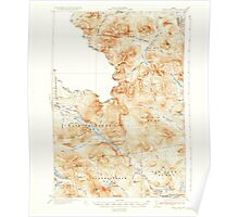 Maine USGS Historical Map Chain Lakes 460307 1935 62500 Poster