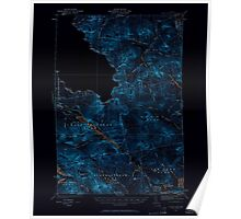 Maine USGS Historical Map Chain Lakes 460310 1932 62500 Inversion Poster