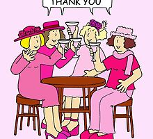 Breast Cancer support thank you ladies in pink. by KateTaylor