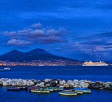 Blue Night in Naples - Mediterranean Impressions by Georgia Mizuleva