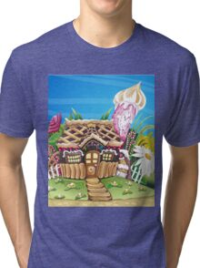 Fantasy Marzipan & Sweets House Tri-blend T-Shirt