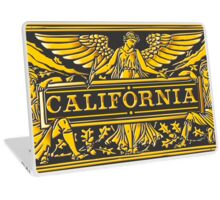 California Black & Gold Label Plaque Laptop Skin