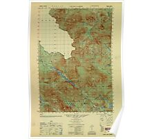 Maine USGS Historical Map Chain Lakes 806602 1951 50000 Poster