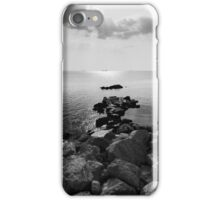 Sunrays scattered by clouds over Trieste Bay iPhone Case/Skin