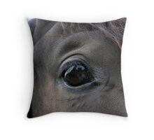 Self Portrait in a Horse's Eye Throw Pillow