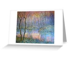 Wetlands at Sunset Greeting Card