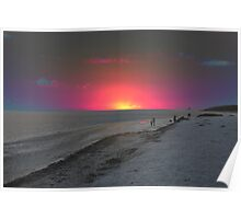 Psychedelic Sunset Poster