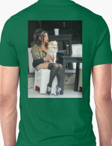 Fashionable Lady with Dog T-Shirt
