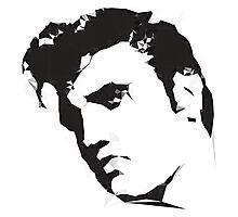 Polygon Elvis Photographic Print