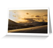 The Scottish Mountains Greeting Card