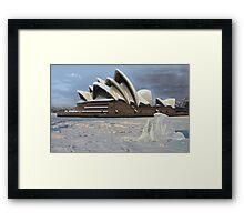 Sydney Opera House Snowstorm Framed Print