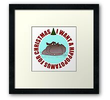 Hippopotamus for Christmas Framed Print