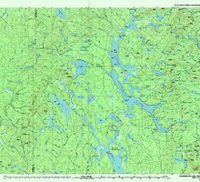 Maine USGS Historical Map Chamberlain Lake 807847 1994 100000 by wetdryvac