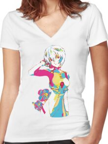 who am i? Women's Fitted V-Neck T-Shirt