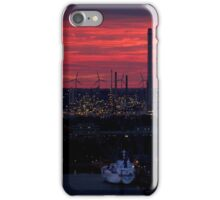 Rotterdam Harbour Skyline at Sunset, from Euromast iPhone Case/Skin
