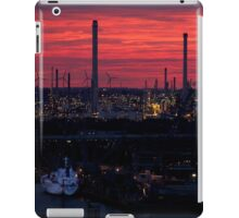 Rotterdam Harbour Skyline at Sunset, from Euromast iPad Case/Skin
