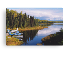 Come fly with me to Alaska! Canvas Print