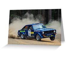 Ford Escort rally car Greeting Card