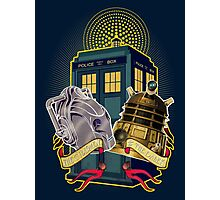 THE CYBERMEN AND THE DALEK Photographic Print