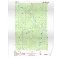Maine USGS Historical Map Charles Pond 105016 1986 24000 Poster