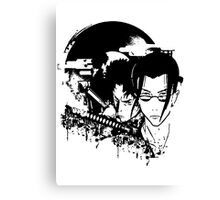 Way Of Samurai Grunge Canvas Print