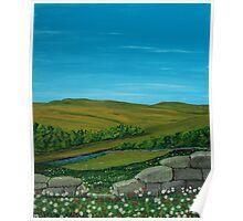 Flowery Landscape Poster