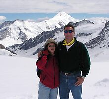 Peter and Laurie at Jungfraujoch by Laurie Puglia