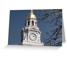 Clock Tower Dome Greeting Card