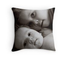 Big Sis Kaylie with Lil Bro Jake Throw Pillow