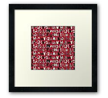 ABC red Framed Print