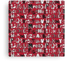 ABC red Canvas Print
