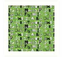 ABC green Art Print