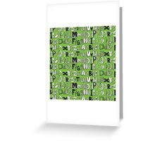 ABC green Greeting Card