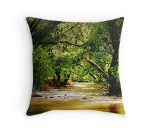 Jul's Creek of Peace Throw Pillow