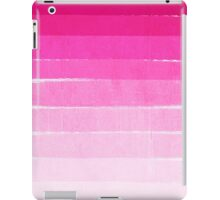 Pink Ombre Brushstroke - Summer, Beach, Cute trendy, painterly art iPad Case/Skin
