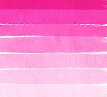 Pink Ombre Brushstroke - Summer, Beach, Cute trendy, painterly art by charlottewinter