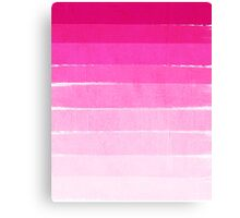 Pink Ombre Brushstroke - Summer, Beach, Cute trendy, painterly art Canvas Print