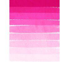 Pink Ombre Brushstroke - Summer, Beach, Cute trendy, painterly art Photographic Print