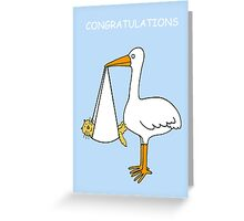 Congratulations on new pet cat/fur baby. Greeting Card