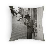 authentic street Throw Pillow